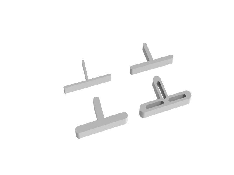 10mm T-Shape Tile Spacers