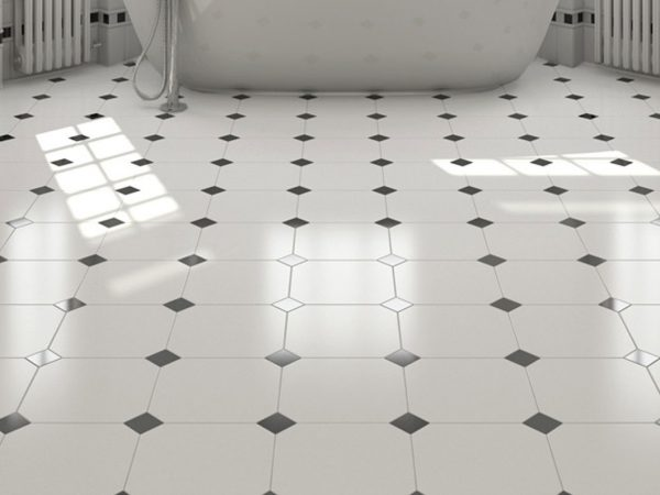 Classic Octagon Ceramic Floor Tiles
