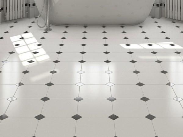 Classic Octagon Ceramic Kitchen Tiles
