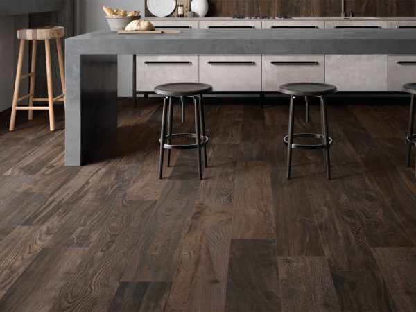Circle Wood Bathroom Floor Tiles
