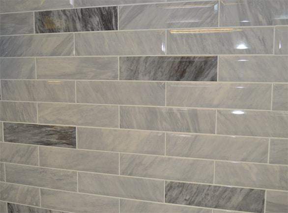 Marmo Bardiglio Marble Light Grey Bevel 300x7