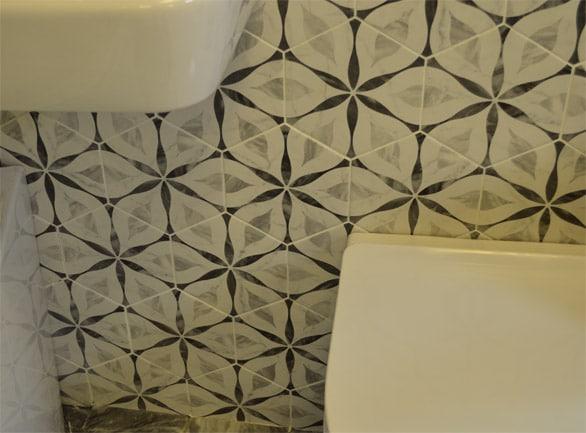 Marmo Bardiglio Hexagon Patterned 175x200x8mm