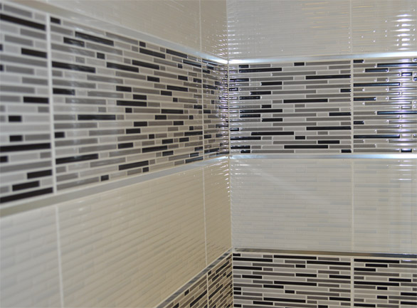 City black wall tile 200x500x8.5mm