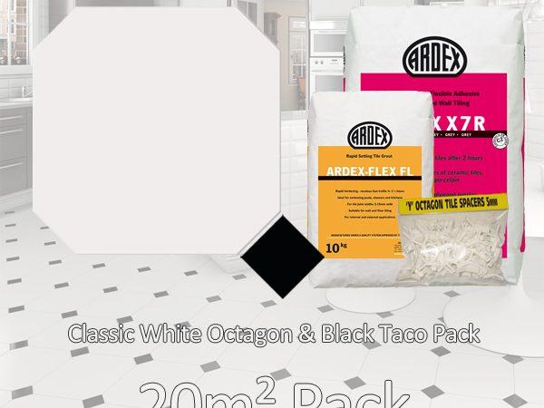 Octagon Classic White& Black Taco 20m2 pack
