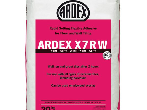 Ardex X7r Flexible Rapid White floor 20kg Bag