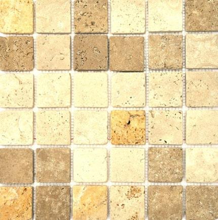 Travertine Mosaic Mixed 48mm 305x305x10.5mm