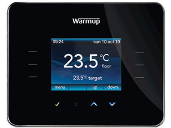 Warmup 3ie Thermostat Piano Black (3iEPB)