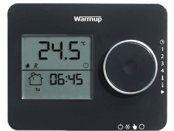 Tempo Programmable Thermostat Piano Black