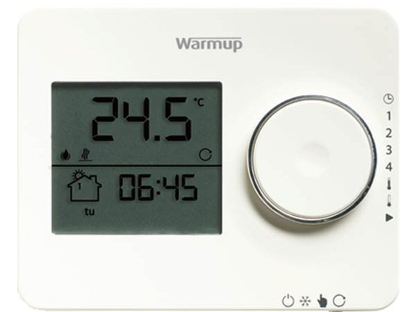 Tempo Programmable Thermostat Porcelain White