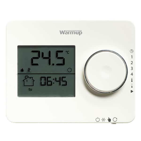 Tempo Programmable Thermostat Porcelain White