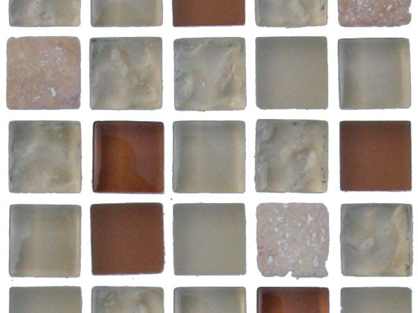 Mosaics Elegant Crystal Beige Square