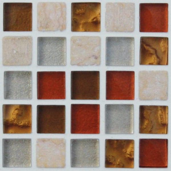 Mosaics Elegant Copper Bronze Square