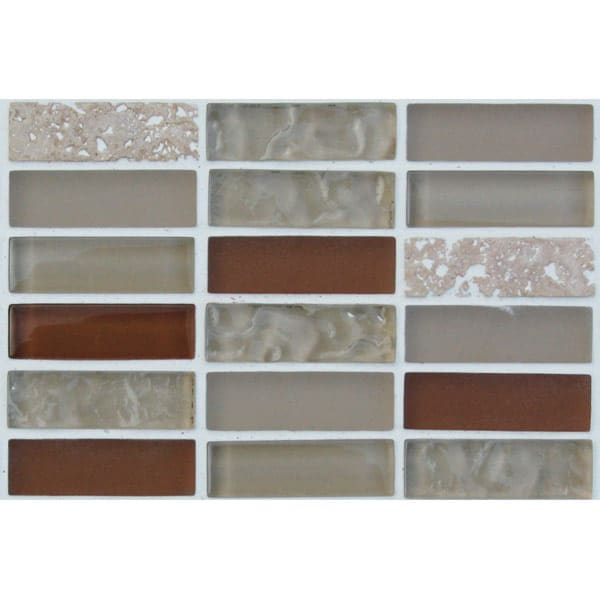 Mosaics Elegant Crystal Beige Rectangle