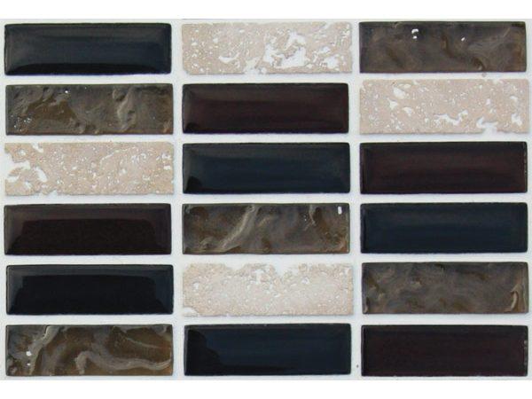 Mosaics Elegant Sepia Brown Rectangle