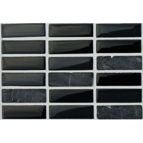 Mosaics Elegant Coal Mine Rectangle