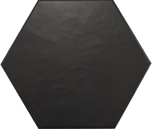 Hexagon Satin Black Tile 175mm x 200mm