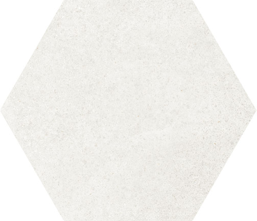 Hexagon Cement White floor 175x200x8mm