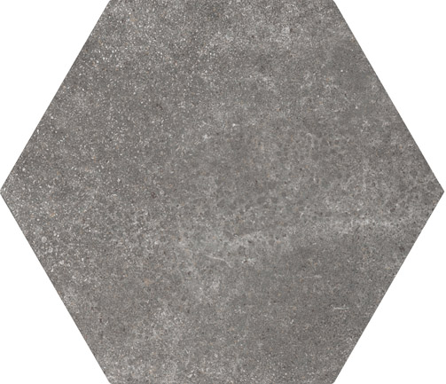 Hexagon Cement Black floor 175x200x8mm