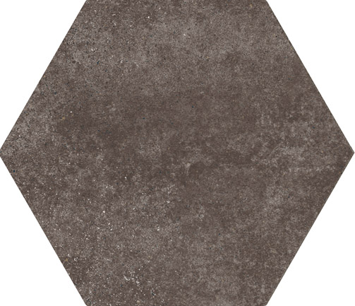 Hexagon Cement Brown floor 175x200x8mm