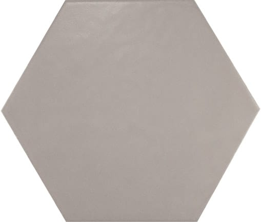 Hexagon Satin Grey floor tile 175x200x8mm
