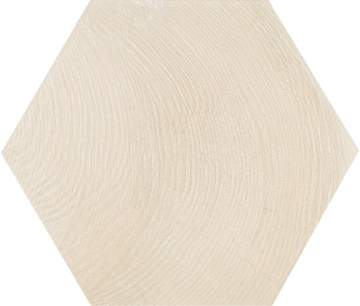 Hexagon Wood Effect White 175x200x8mm