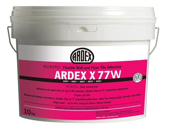 Ardex X77 Microtec Flexi White 10KG Bucket