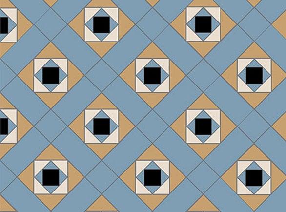Olde English Grid Pattern Floor per m2