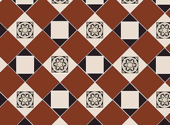 Olde English Decorative Pattern Floor per m2