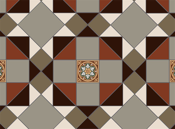 Olde English Oslo Pattern  Floor per m2