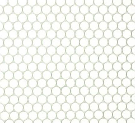 Matt White Round Mosaic