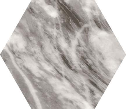 Marmo Bardiglio Hexagon Dark Grey 175x200x8mm
