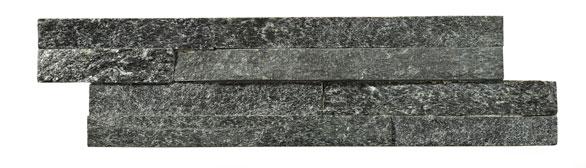 Geo Split Face Black Sparkle natural slate Wall Til