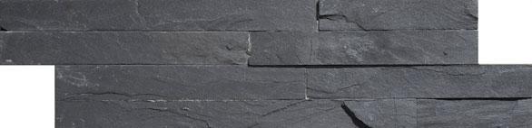Geo Split Face Black 100x360 Wall Tile