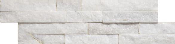 Geo Split Face Carrara Sparkle Natural effect Wall Tiles