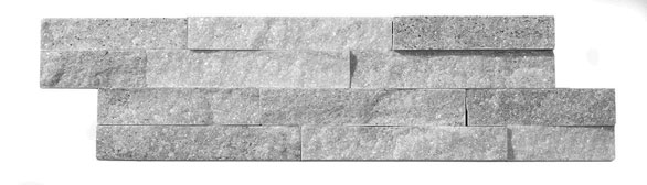 Geo Split Face Grey Sparkle wall tiles in natural quartz