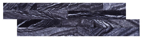 Geo Split Face Zeus Nero 100x360 Wall Tile