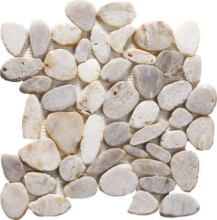 Pebble Mosaic White 305x305x10mm