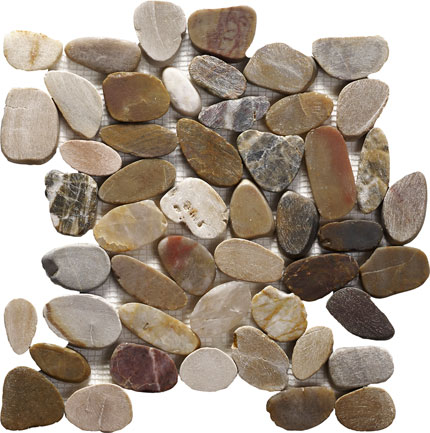 Pebble Mosaic Multi-Colour 305x305x10mm