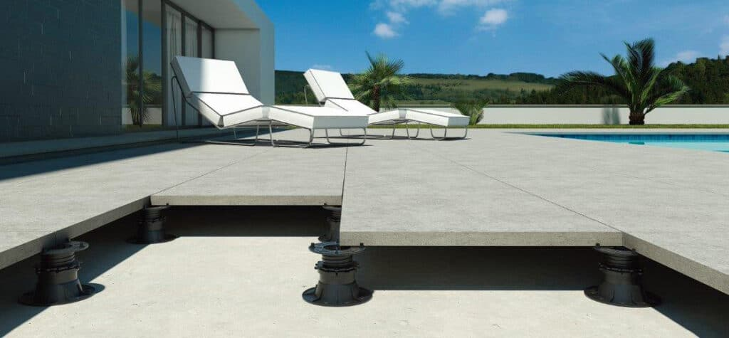 Using Adjustable Support Pedestals for Outdoor Tiles