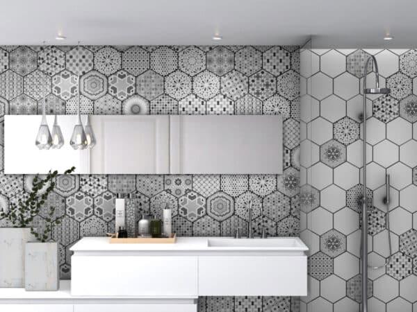 Orient Hexagon Bathroom Wall Tiles