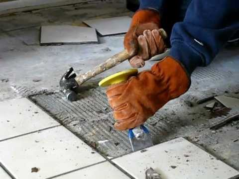 How to Remove Old Tiles