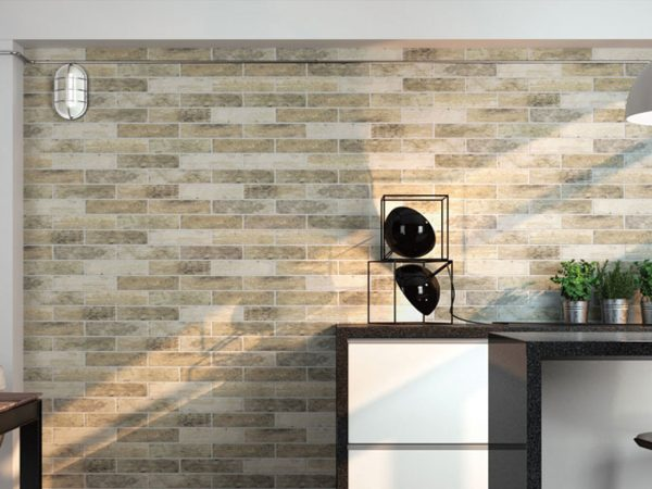 Broadway Brick Slips Kitchen Wall Tiles