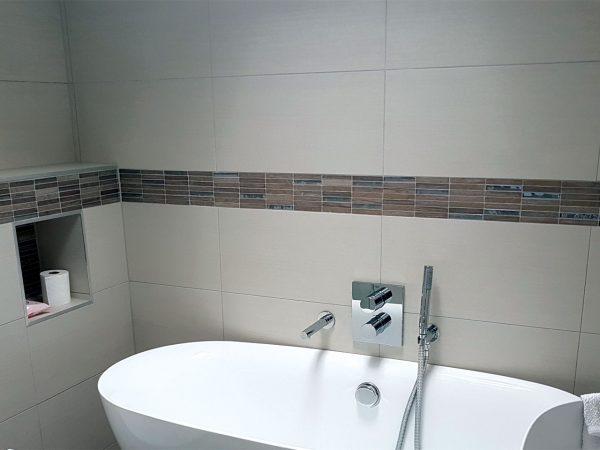 Chrome Wood Bathroom Wall tiles