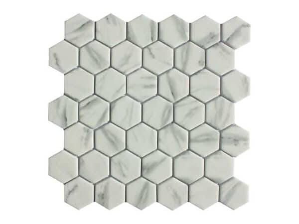 Copenhagen Carrara Hexagon Mosaic