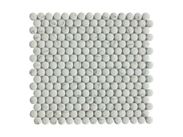 Copenhagen Statuario Round Mosaics