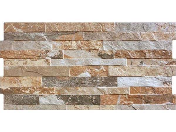 split face beige slate effect wall tiles