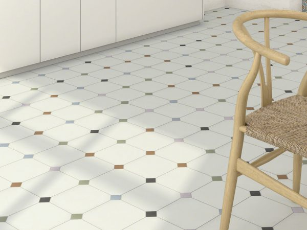 Georgian Off White 200x200mm Octagon Floor Tiles