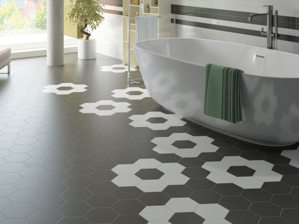 Hexagon Porcelain Floor Tiles