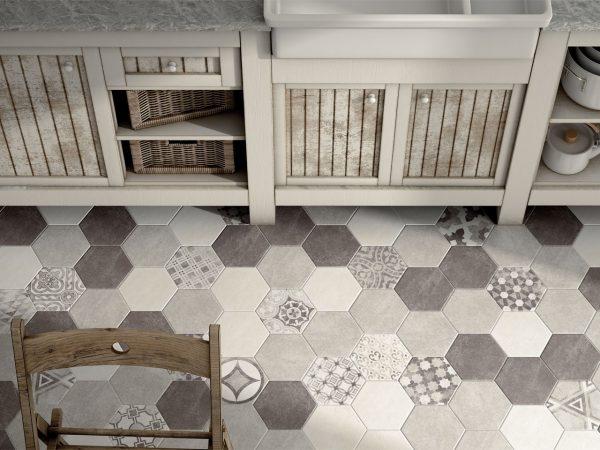 Cement Hexagon Floor Tiles