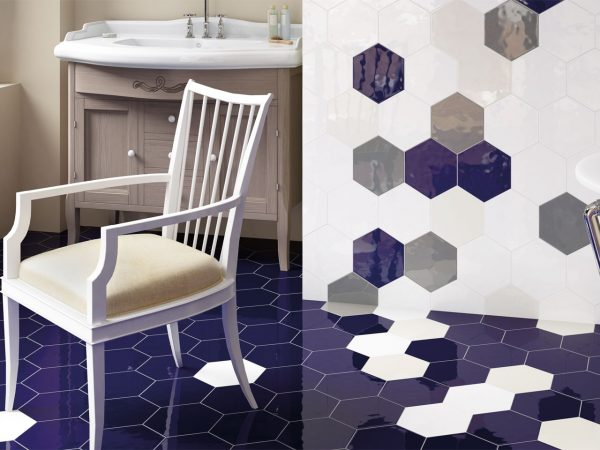 Gloss Hexagon Floor Tiles